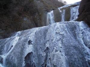 1月15日(金)の袋田の滝の凍結状況!!