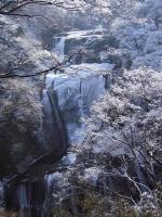 「雪化粧」の袋田の滝