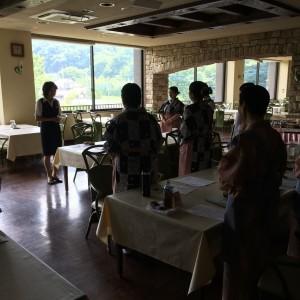 袋田温泉 思い出浪漫館 サービス研修を行いました。