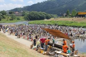 大子町 夏のイベント 鮎のつかみ取り大会