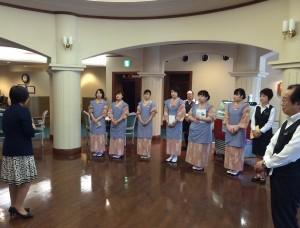 袋田温泉 思い出浪漫館 サービス研修をいたしました。